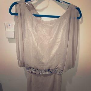 Flowy Gold Bisou Bisou by Michele Bohbot Dress